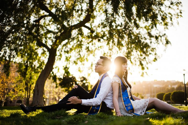 Errol + Iris – UCLA Graduation Portraits + Couple Session