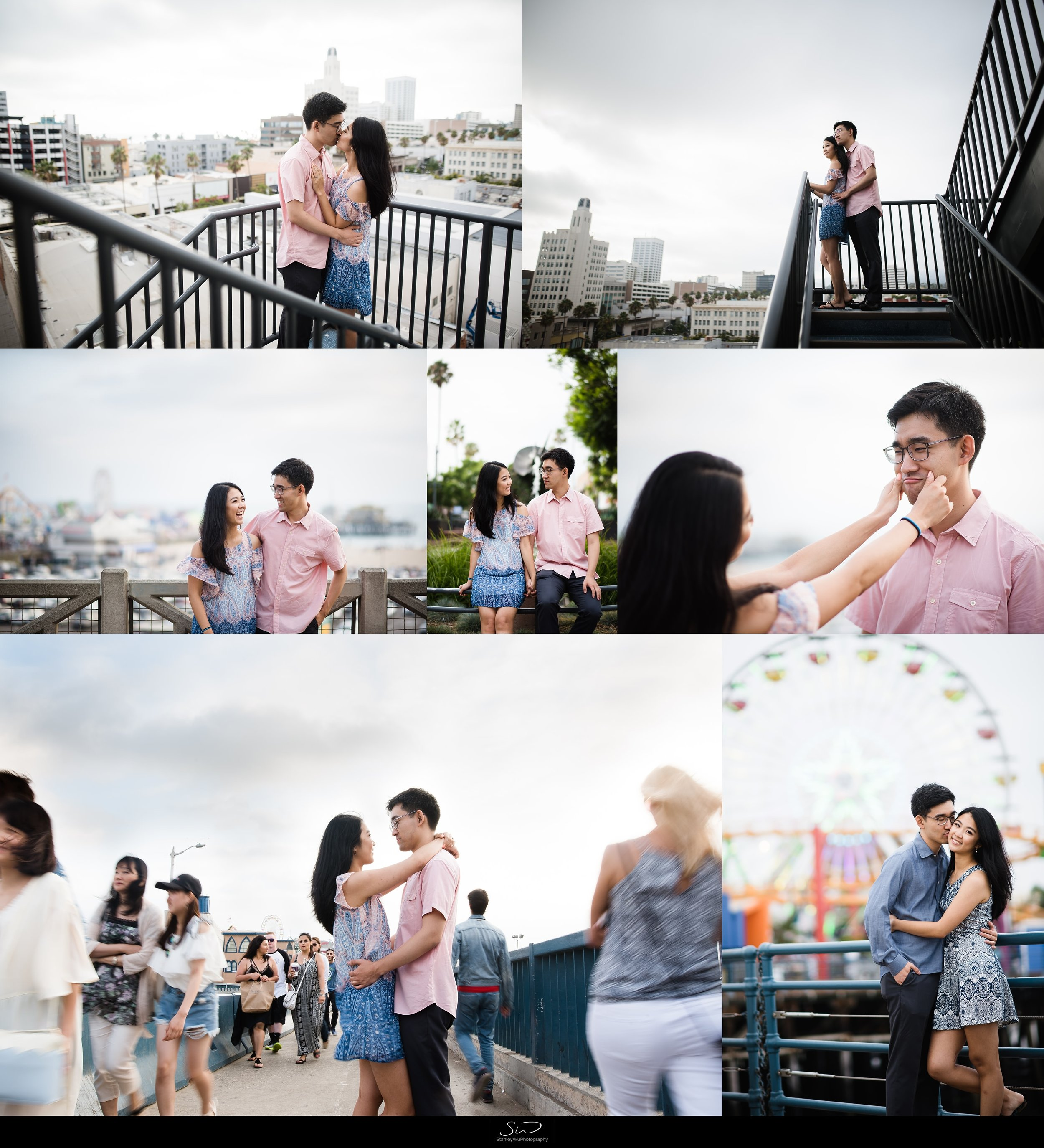 Amy + Andy – Downtown Santa Monica Engagement 2
