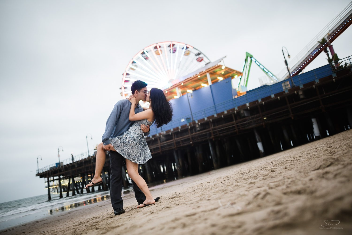 Amy + Andy – Downtown Santa Monica Engagement 98