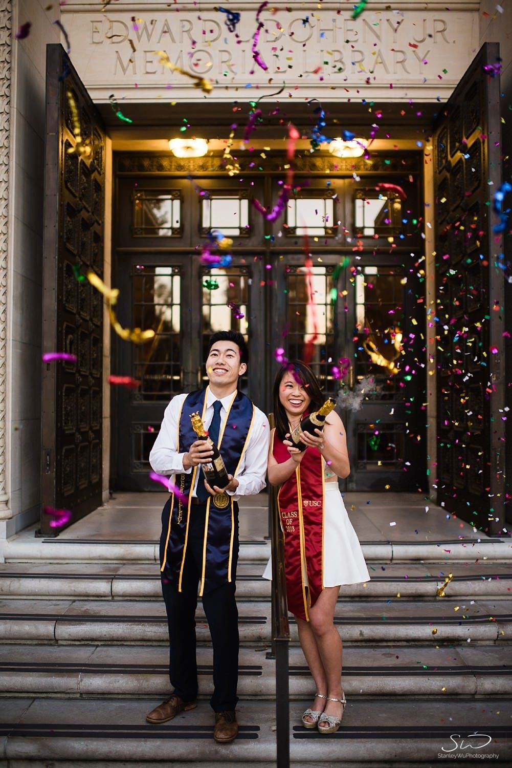usc uc berkeley couple graduation portraits 0038