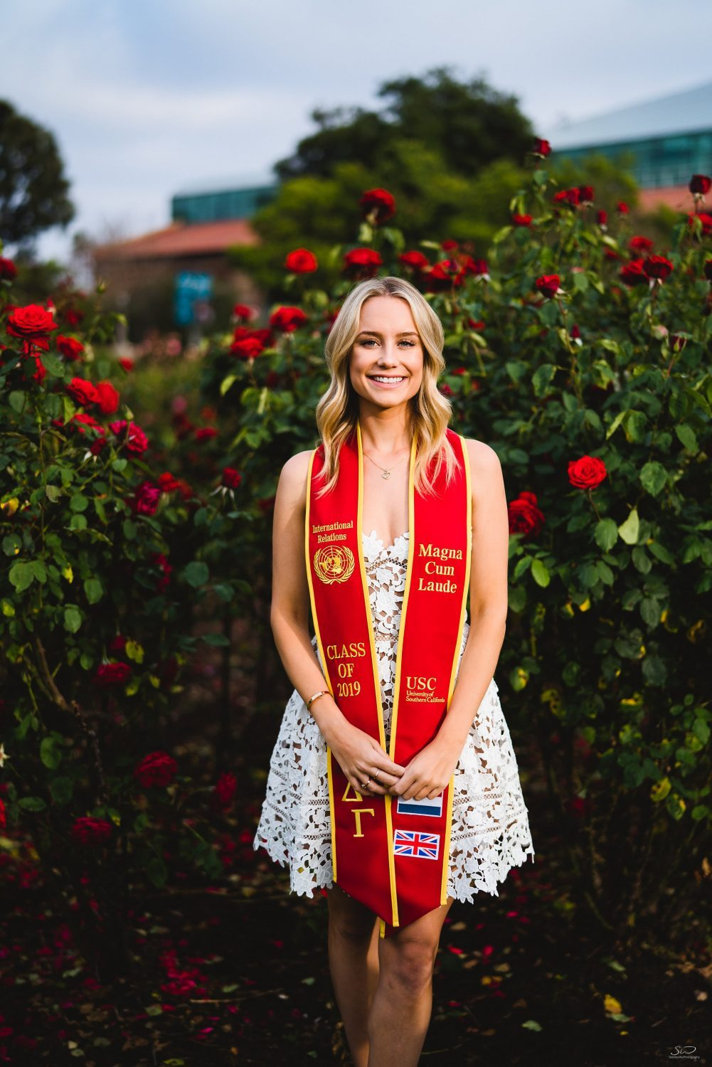 los angeles senior graduation portrait sorority usc