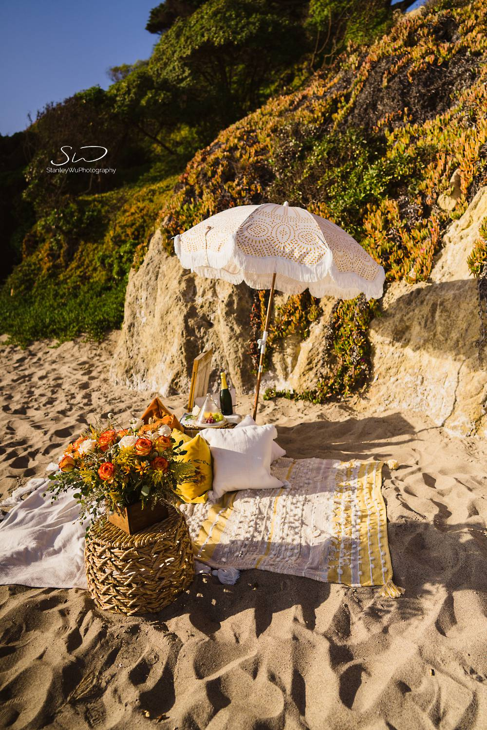 los angeles wedding photographer malibu engagement proposal